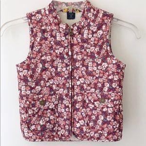 🛍 SALE!Gap Toddler Girls Pink Floral Quilted Vest